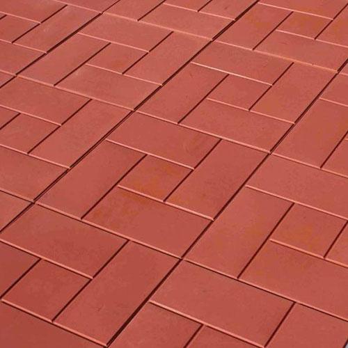 Плитка тротуарная пять кирпичей красного цвета