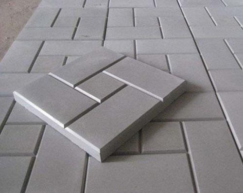 Плитка тротуарная пять кирпичей серого цвета