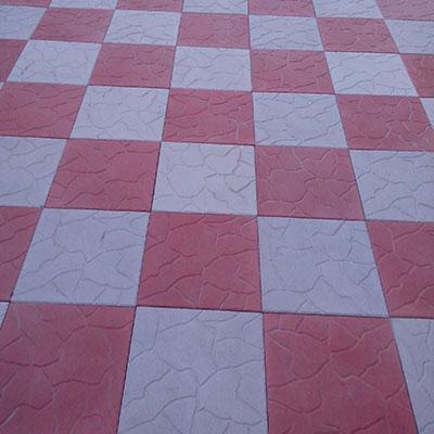 Плитка тротуарная красная с серым