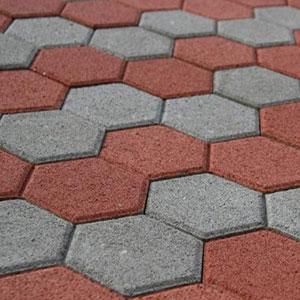Плитка тротуарная вибролитая соты